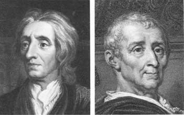 La división de poderes de Locke y Montesquieu