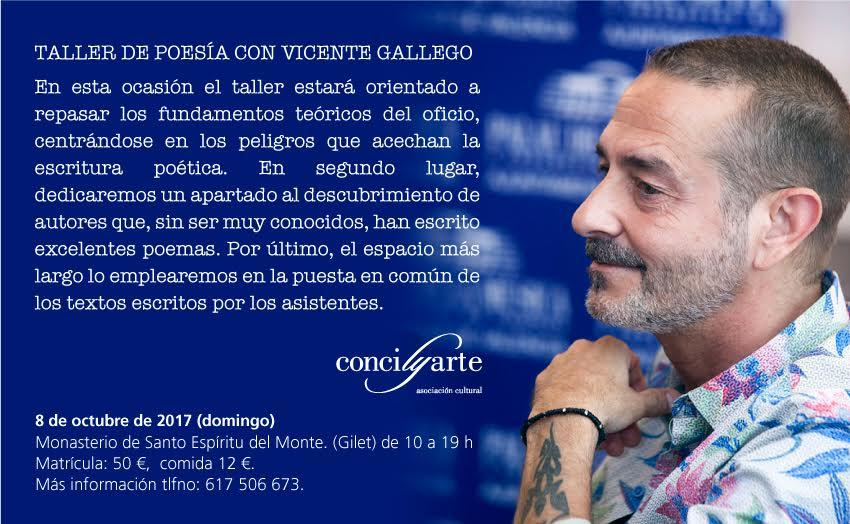 Taller de poesía con Vicente Gallego