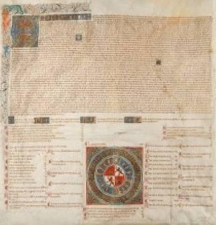 Juan II, Rey de Castilla y León: Privilegio rodado por el que se hace ciudad a la villa de Frías. Burgos, 12 de marzo 1435. Inventario 538.