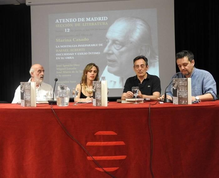 José María de la Torre, Marina Casado, José Ignacio Díez y Alejandro Sanz