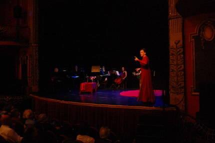 María Villarroya durante la presentación del disco