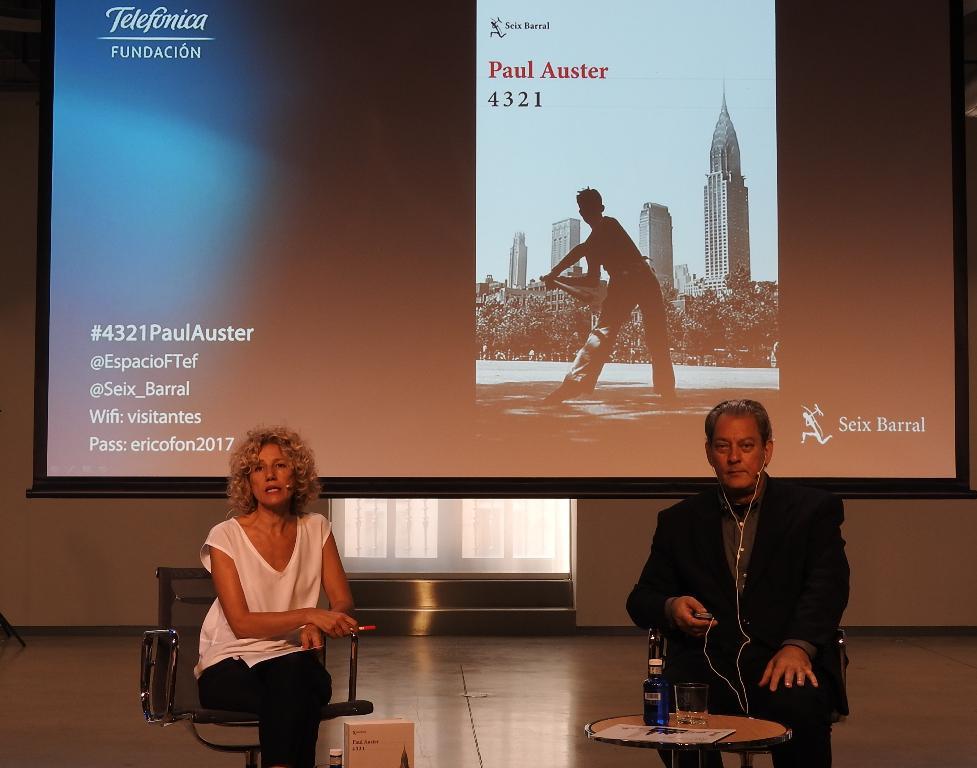 """Paul Auster presenta en Madrid su última novela """"4 3 2 1"""""""