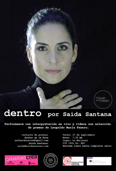 Saida Santana estrena la performance multimedia