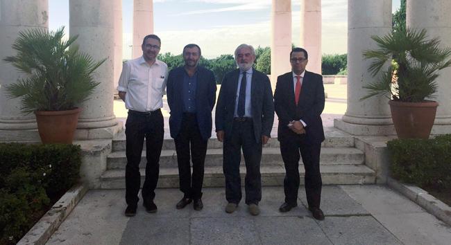 De izquierda a derecho Luisge Martín, Michel Bertrand, Dario Villanueva y Enrique Vargas