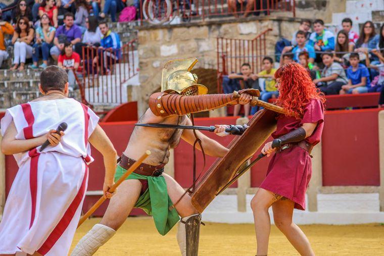 Espectáculo didáctico de gladiadores